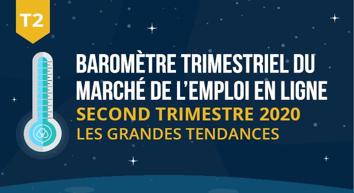 [BAROMÈTRE] DU MARCHÉDE L'EMPLOI EN LIGNE : DEUXIEME TRIMESTRE 2020