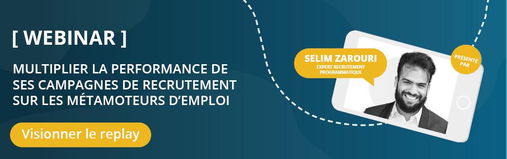 WEBINAR PERFORMANCES CAMPAGNES DE RECRUTEMENT MOTEUR EMPLOI