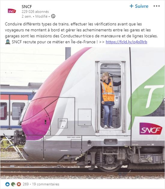 Métier à la une SNCF